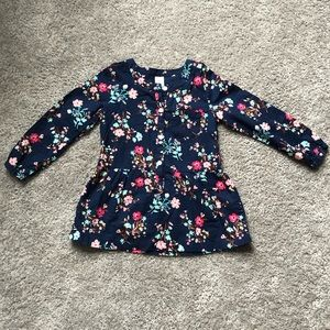 Carter's Navy Floral Top